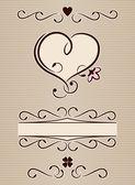 Calligraphic heart — Stock Vector