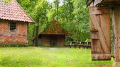 The barnyard of a dutch farmhouse — Stock Photo