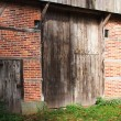 Classical dutch entrance of an old barn — Stock Photo