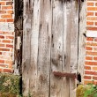 Old wooden barn door — Stok fotoğraf