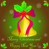 """""""With Christmas"""" and """"Happy New Year!!!"""" — Vector de stock"""