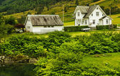 Country houses in Norway — Stock Photo