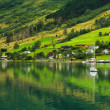 Stock Photo: Village Olden, Norway