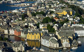 Norwegian town Alesund — Stock Photo