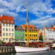 Nyhavn in Copenhagen — Stock Photo #21405427