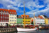Nyhavn en copenhague — Foto de Stock