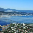 Norwegian city Tromso beyond the Arctic circle — Stock Photo #21442197