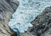 Glacier Briksdal in Norway — Foto Stock
