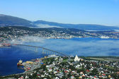 Norwegian city Tromso beyond the Arctic circle — Stock Photo