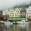 Bryggen in the center of Bergen — Stock Photo #21454129