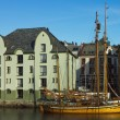 hotels and yachts in alesund — Stock Photo
