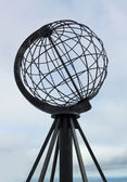 Terrestrial globe model on the North Cape, Norway — Stock Photo