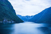 Sea view on mountains, Norway. — Stock Photo
