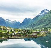 Norway village — Stock Photo
