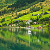 Norway village — Stock Photo