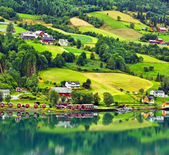 Olden, norway. — Foto Stock