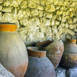 Stock Photo: Old clay pot excavations