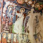 Fresco in cave orthodox church El Nazar, Cappadocia, Turkey — Stock Photo #49847369