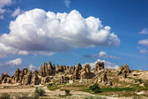 Mountain landscape in Cappadocia, Turkey — Stock Photo