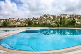 Open swimming pool, Goreme, Cappadocia, Turkey — Stock Photo