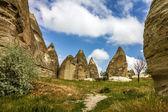 Mountain cave landscape in Cappadocia, Turkey — Stock Photo