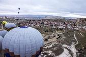 Hot air balloons show in Cappadocia, Turkey — Stock Photo
