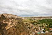 Mountain landscape, old monastery, Cavusin, Cappadocia, Turkey — Stock Photo