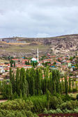 Mountain village landscape, Cavusin, Cappadocia, Turkey   — Stock Photo