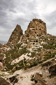 Turkish fortress Uchisar, landscape in Cappadocia, Turkey — Stock Photo