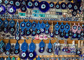 传统蓝色恶眼-受欢迎土耳其的纪念品. — 图库照片