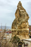 Goreme town - mountain landscape in Cappadocia, Turkey — Stock Photo