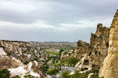 Mountain landscape, Goreme, Cappadocia, Turkey. Open air museum — Foto de Stock