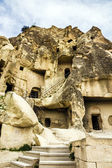 Old cave monastery in Cavusin, Cappadocia, Turkey — Stock Photo