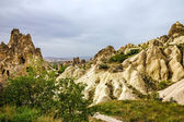 Paisaje de montaña, goreme, cappadocia, turquía. museo al aire libre — Foto de Stock