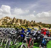 Tourist bicycles in Goreme, Cappadocia, Turkey — Stock Photo