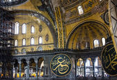 Interior of Hagia Sophia in Istanbul, Turkey - greatest monument — Foto de Stock
