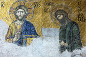 Icon of Jesus Christ and St. John in Cathedral mosque Hagia Sofi — Stock Photo