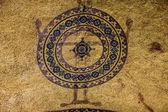 Christian cross in interior of Hagia Sophia - greatest monument  — Stock fotografie