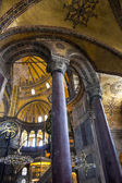 Interior of Hagia Sophia in Istanbul, Turkey - greatest monument — 图库照片