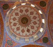 Internal view of Blue Mosque, Sultanahmet, Istanbul, Turkey — Foto de Stock