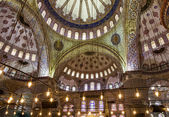 Internal view of Blue Mosque, Sultanahmet, Istanbul, Turkey — Stockfoto