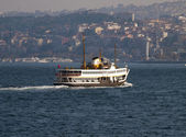 Ferry over the Bosporus Instanbul Turkey — Stock Photo