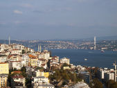 View over Instanbul Turkey with the Bosporus Bridge — Stock Photo
