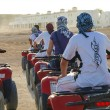 In convoy driving quads — Stock Photo