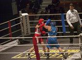 Combate de boxeo de mujeres — Foto de Stock