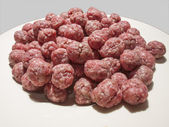 Meatballs for the soup on a white plate — Stock Photo