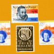 Stamps for the coronation of William Alexander — Stock Photo