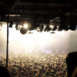 Crowd at a rock concert — Stock Photo