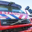 Fire truck with a blue sky as background — Stock fotografie
