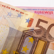 50 euro banknote and car license — Stock Photo
